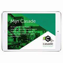 Casade communiceert online en offline